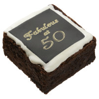 Fabulous at 50 Brownies Square Brownie