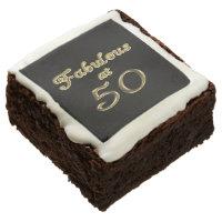 Fabulous at 50 Brownies Square Brownie