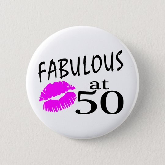 Fabulous at 50 button