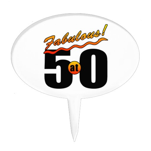 Fabulous At 50 Cake Toppers