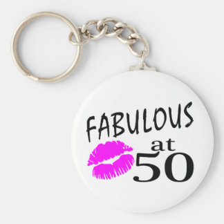 Fabulous at 50 keychain