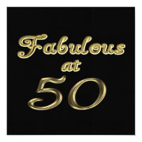 Fabulous at 50 Party Invitation