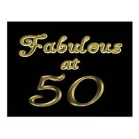 Fabulous at 50 Postcard