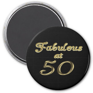 Fabulous at 50 Round Magnet