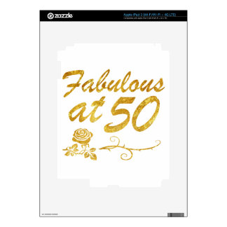 Fabulous at 50 years decal for iPad 3