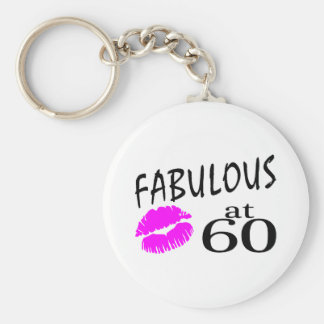 Fabulous at 60 keychain