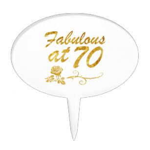 70 And Fabulous Cake Toppers Zazzle