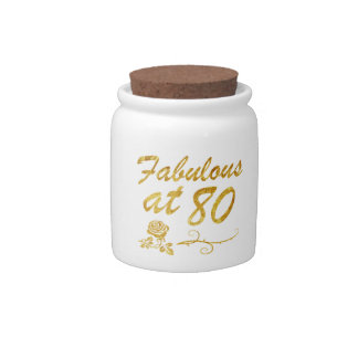 Fabulous at 80 years candy jar