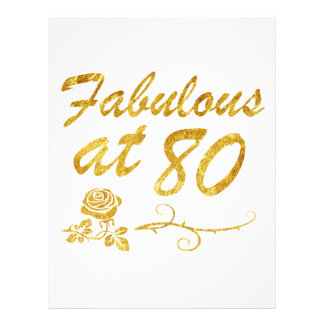 Fabulous at 80 years letterhead