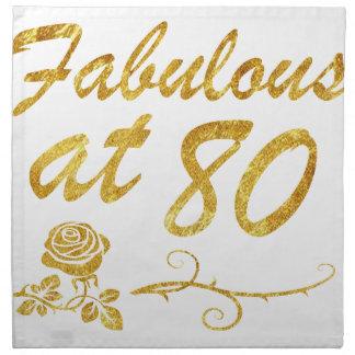 Fabulous at 80 years napkin