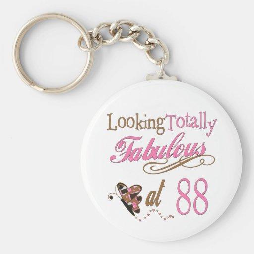 Fabulous at 88 key chains