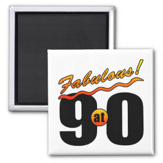 Fabulous At 90 2 Inch Square Magnet