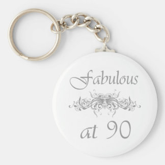 Fabulous At 90 Years Old Keychain