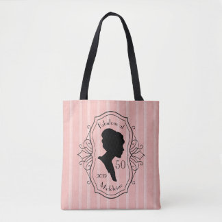 Fabulous at Fifty Cameo Lady Silhouette Elegant Tote Bag