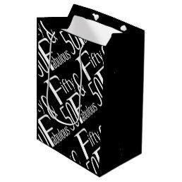 Fabulous at Fifty Medium Gift Bag