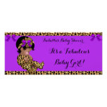 Fabulous Baby Shower Baby Cute Girl Leopard 3 Poster