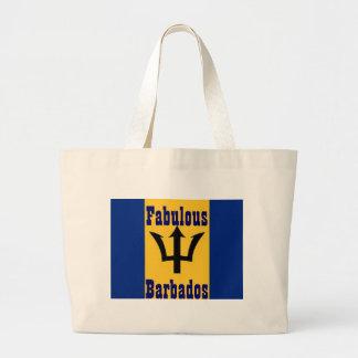 fabulous barbados large tote bag