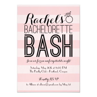 Fabulous Bash   Bachelorette Party Card