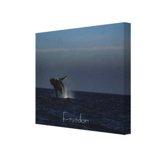 Fabulous Breaching Humpback whale Canvas print