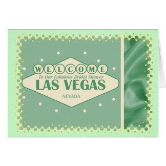 Fabulous Bridal Shower LAS VEGAS Card