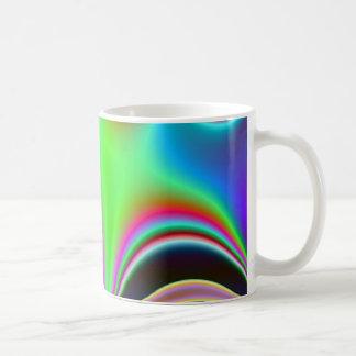 Fabulous Bright Abstract Fractal Art Design Rainbo Coffee Mug