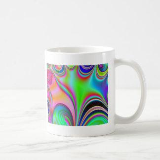 Fabulous Bright Abstract Fractal Art Design Rainbo Coffee Mugs