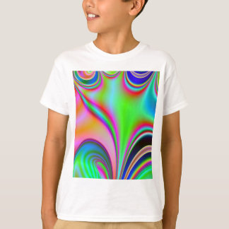Fabulous Bright Abstract Fractal Art Design Rainbo T-Shirt