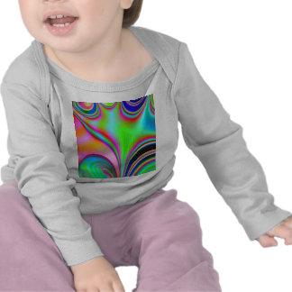 Fabulous Bright Abstract Fractal Art Design Rainbo T Shirt