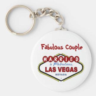 Fabulous Couple, Married In Fabulous Las Vegas Key Keychain