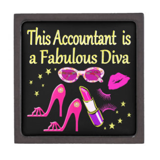 FABULOUS DIVA ACCOUNTANT DIVA KEEPSAKE BOX