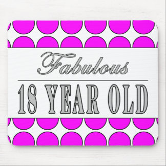 Fabulous Eighteen Year Old Pink Polka Dots Mouse Pad