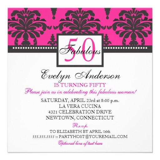 Fabulous & Elegant Woman Birthday Party Invitation