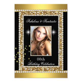 Fabulous Fantastic Gold Black Glamour Hollywood Card