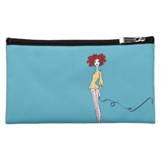 Fabulous Fashion Girl and Chic Bull Dog Cosmetic Bag