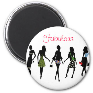 fabulous fashion women silhouettes refrigerator magnets