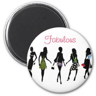 fabulous fashion women silhouettes magnet