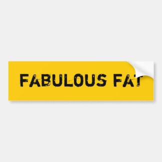 Fabulous Fat Bumper Sticker