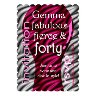 Fabulous, fierce & forty! card