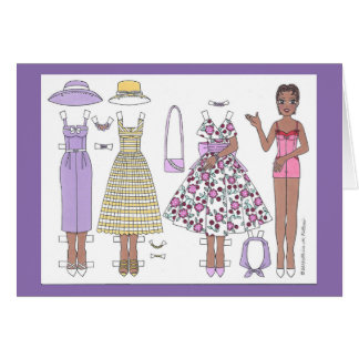 Fabulous Fifties: Alicia Paper Doll Blank Card