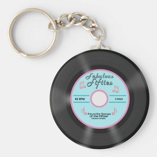 Fabulous Fifties Basic Round Button Keychain