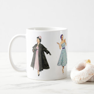Fabulous Fifties Fashion Models Coffee Mug