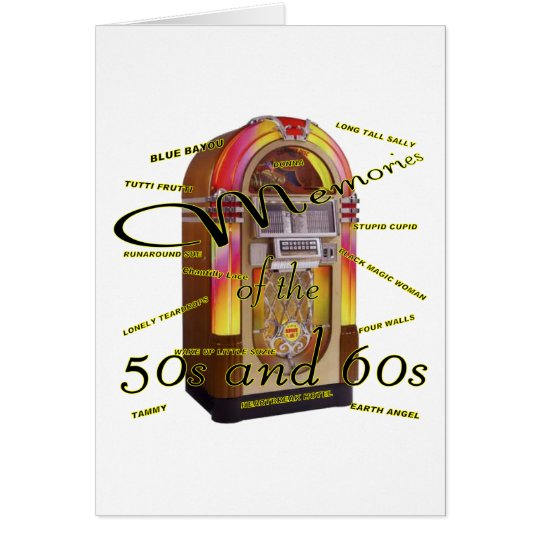 Fabulous fifties juke box card