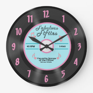 Fabulous Fifties Large Vintage Wall Clock