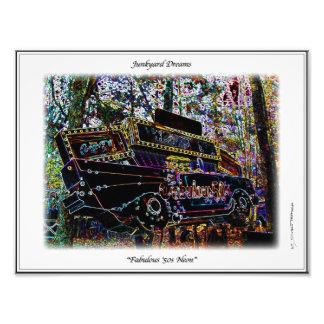 Fabulous Fifties Neon 57 Chevy Junkyard Sign Print Photo Art
