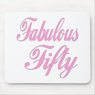 Fabulous Fifty 50th Birthday Gifts Mousepad