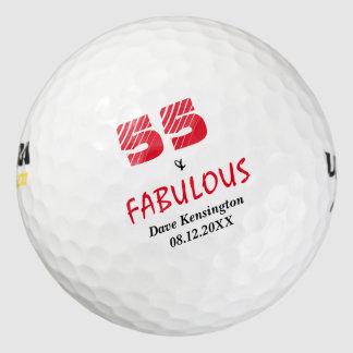 Fabulous Fifty Five Birthday Personalized Pack Of Golf Balls