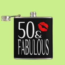 Fabulous Fifty Hip Flask