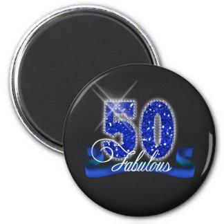 Fabulous Fifty Sparkle ID191 2 Inch Round Magnet