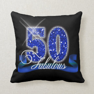 Fabulous Fifty Sparkle ID191 Throw Pillow