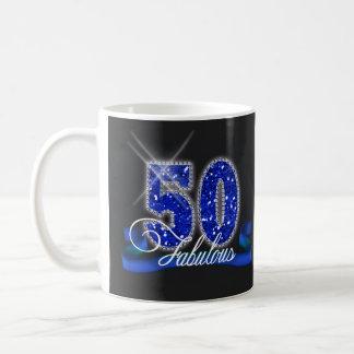 Fabulous Fifty Sparkle Classic White Coffee Mug